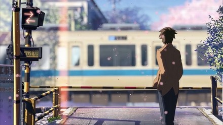 In the ending sequence we see Akari and Takaki as adults in the same situation they used to be in as kids. However, this time they both go in the separate ways. Takaki waits for the trains to pass, but Akari already left. He is somewhat disappointed, but turns around and moves on with his life, leaving his past behind.