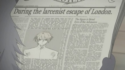 It also appears that our pretty blond with ash mauve eyes has made the paper.  It calls him a German larcenist, who is accused not only of stealing a great deal of money but also of murdering one hundred people and serial larceny in America!