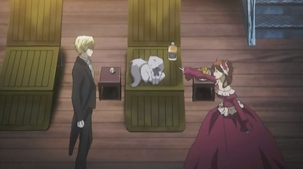 So she tells him she was talking to Nico and it was he who drank the scotch.  She says that Nico gets quite upset if you don't treat him like a gentleman and then tells Edgar to go ahead and laugh at her since she's lost her mind.