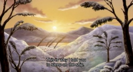 This episode featured many beautiful sunset scenes, but they were relevant to the theme of the episode.