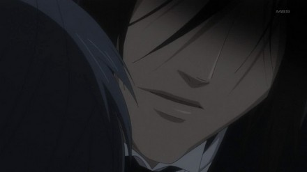 Sebastian asks Ciel to close his eyes because he does not want Ciel to witness Sebastian's scary demon form.