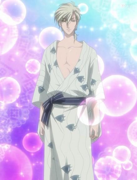 Eugene looks lovely in yukata :)