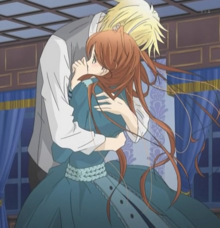 He hugs her tightly, hoping that he can convey how he feels with his arms.