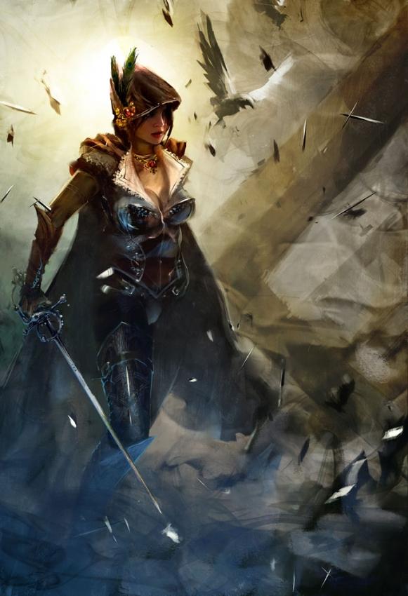 Imágenes de personajes que se parecen a los del server Thief-queen-guild-wars-2